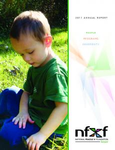 2011 annual report. People. Programs. Generosity