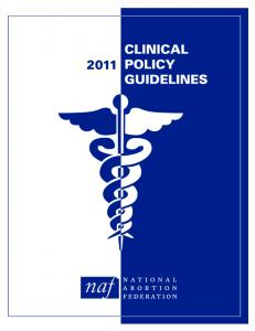 2011 Clinical Policy Guidelines