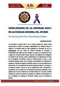 2011 DE LA FISCALIA GENERAL DEL ESTADO