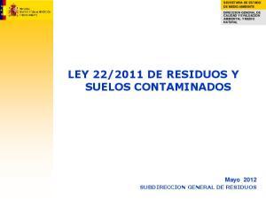 2011 DE RESIDUOS Y SUELOS CONTAMINADOS