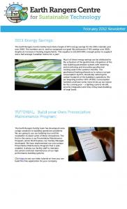 2011 Energy Savings: TUTORIAL: Build your Own Preventative Maintenance Program:
