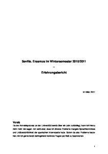 2011. Erfahrungsbericht