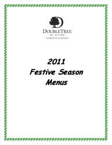 2011 Festive Season Menus