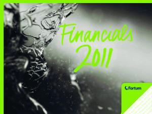 2011 Financials 2011 Fina. als 2011 Financials 2. Financials 2011