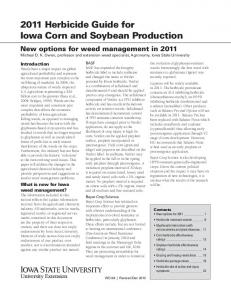2011 Herbicide Guide for Iowa Corn and Soybean Production