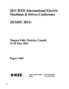 2011 IEEE International Electric Machines & Drives Conference