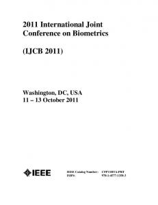 2011 International Joint Conference on Biometrics