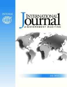 2011 International Journal of Government Auditing, Inc