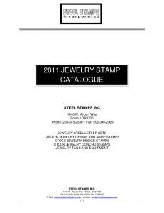 2011 JEWELRY STAMP CATALOGUE