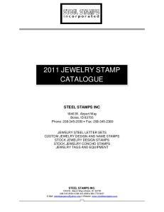 2011 JEWELRY STAMP CATALOGUE