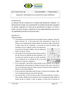 2011 MAQUINAS Y HERRAMIENTAS ACCIONADAS POR AIRE COMPRIMIDO