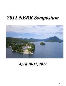 2011 NERR Symposium April 10-12, 2011