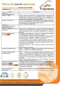 2011, nuevo Reglamento de ICT
