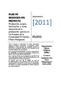 [2011] PLAN DE NEGOCIOS DEL PROYECTO