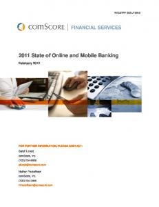 2011 State of Online and Mobile Banking