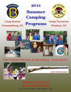 2011 Summer Camping Programs