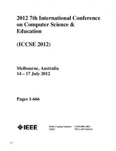 2012 7th International Conference on Computer Science & Education