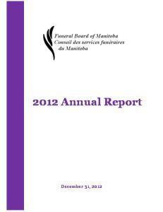 2012 Annual Report  December 31, 2012