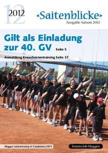 2012 Ausgabe Saison 2012