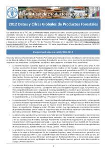 2012 Datos y Cifras Globales de Productos Forestales