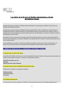 2012, de 25 de junio de Medidas administrativas y fiscales del Gobierno Canario