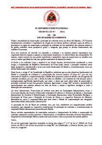 2012 DE DE LEI DE BASES DO AMBIENTE
