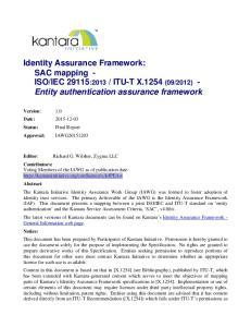 2012) - Entity authentication assurance framework