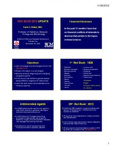 2012. Financial Disclosure. Objectives