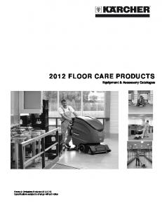 2012 FLOOR CARE PRODUCTS