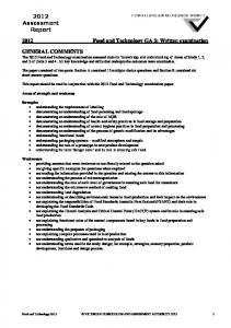 2012 Food and Technology GA 3: Written examination