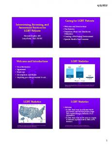 2012. Gay & Lesbian Medical Association (2006). Guidelines for care of lesbian, gay, bisexual, and