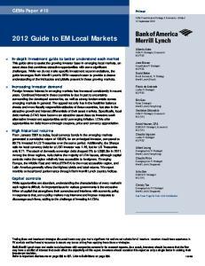2012 Guide to EM Local Markets