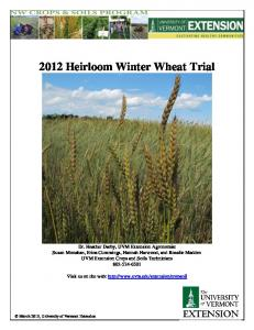 2012 Heirloom Winter Wheat Trial