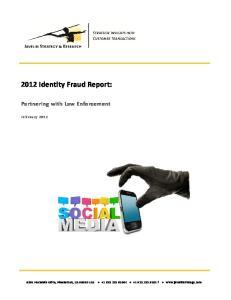 2012 Identity Fraud Report:
