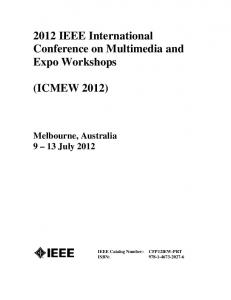 2012 IEEE International Conference on Multimedia and Expo Workshops