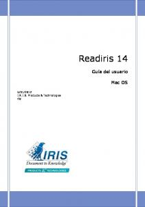 2012 I.R.I.S. Products & Technologies dgi