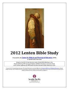 2012 Lenten Bible Study