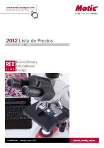 2012 Lista de Precios EN ES DE