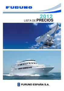 2012 LISTA DE PRECIOS