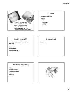 2012. Mechanics of breathing Dyspnea