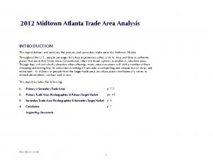 2012 Midtown Atlanta Trade Area Analysis