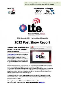 2012 Post Show Report