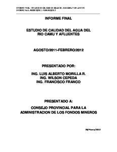 2012 PRESENTADO POR:
