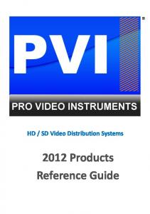 2012 Products Reference Guide