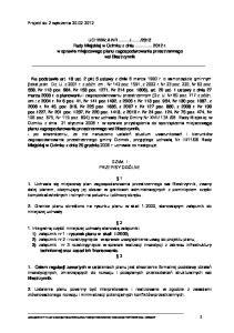 2012 Rady Miejskiej w Ozimku z dnia r. w sprawie miejscowego planu zagospodarowania przestrzennego wsi Biestrzynnik