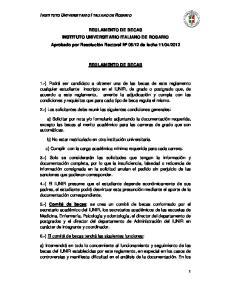 2012 REGLAMENTO DE BECAS
