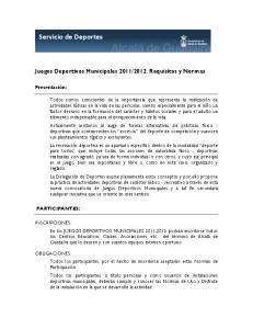 2012. Requisitos y Normas