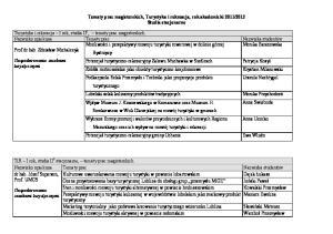 2012 Studia stacjonarne