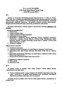 2012 z XXI Sesji Rady Miasta Nowy Targ z dnia 28 czerwca 2012 r