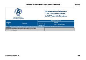 2013. Alignment Citation Standard. Content Standard ID